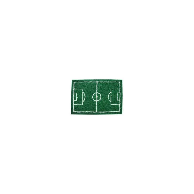 Tapete Capacho de Porta Criativo Campo de Futebol Divertido