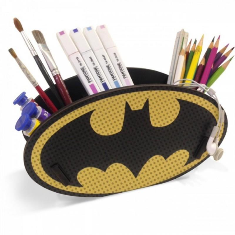 Porta Lápis Caneta Geek Batman MDF