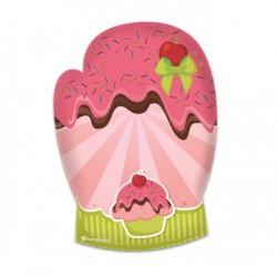 Luva de Cozinha Cupcake Criativa e Divertida