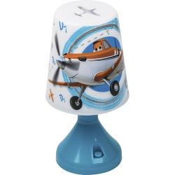 Abajur Infantil Aviões LED Projeta Desenho no Teto