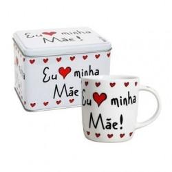 Caneca Mães Personalizada com Lata Presente Dia das Mães