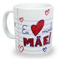 Caneca Mães Personalizada Eu Amo Minha Mãe Presente Dia das Mães