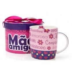 Caneca Mães Personalizada Mãe Amiga Presente Dia das Mães