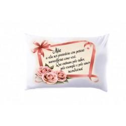 Fronha Personalizada Mãe Rosas Presente Dia das Mães