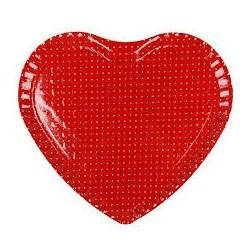 Bandeja Coração para Doces e Salgados Vermelha Festa Infantil
