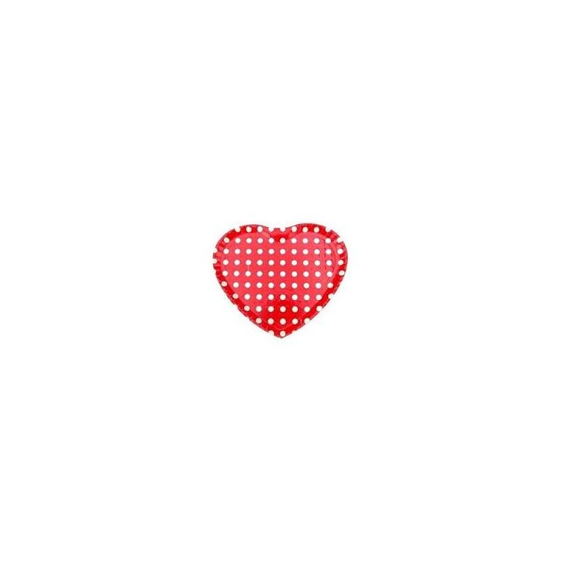 Bandeja Coração Poá para Doces e Salgados Vermelha e Branca Festa Infantil