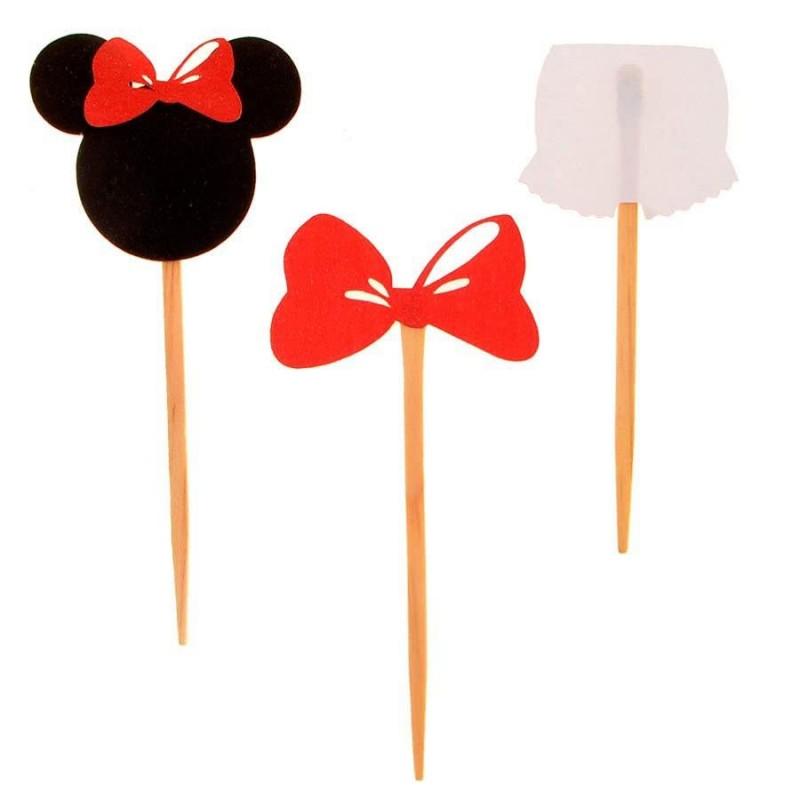 Enfeites da Minnie 50un para Doces com palito Festa Infantil