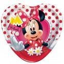Bandeja Coração Doces e Salgados Minnie Festa Infantil