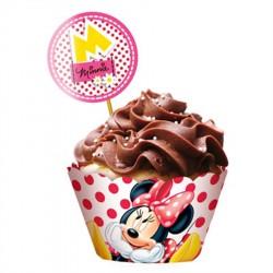 Wrapper para Cupcake Minnie Vermelha Papel Cartão Decoração Festa
