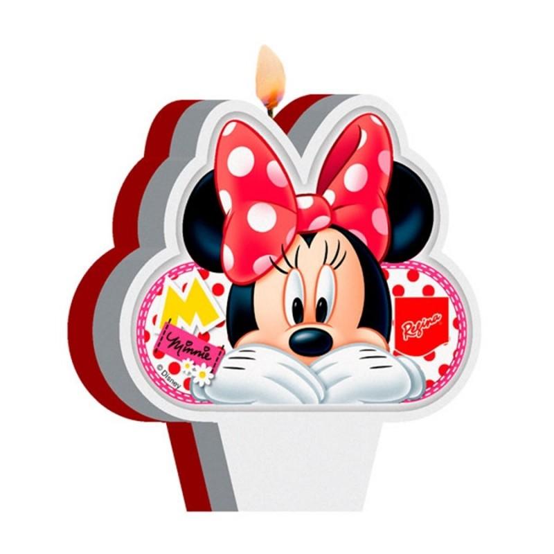 Vela para Bolo da Minnie Decoração Festa Infantil