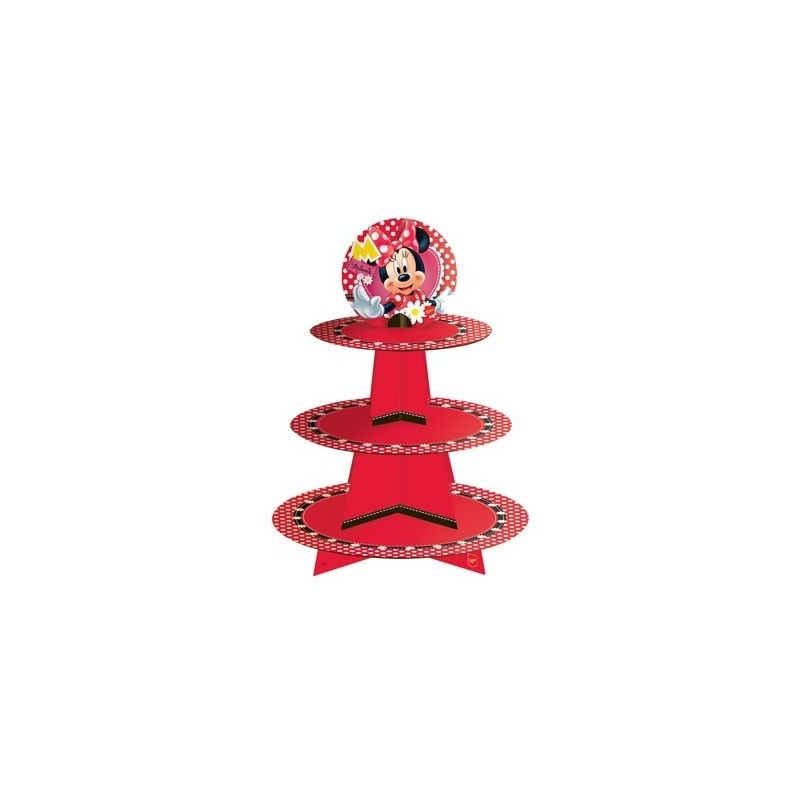 Bandeja Suporte Cupcake Minnie Festa Infantil