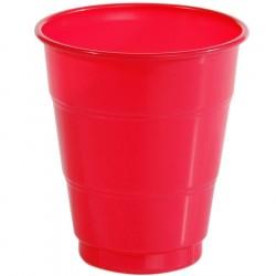 Copo Plástico Descartável Vermelho para Festa