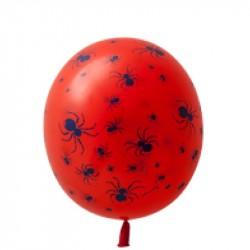 Balão Bexiga Aranha Vermelho Decoração Halloween