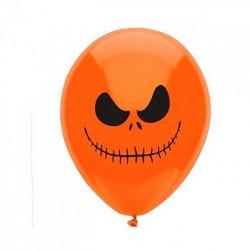 Balão Bexiga Abóbora Monstro Laranjada Decoração Halloween