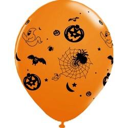 Balão Bexiga Laranjada Decoração Halloween