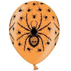 Balão Bexiga Laranjada Aranhas Decoração Halloween
