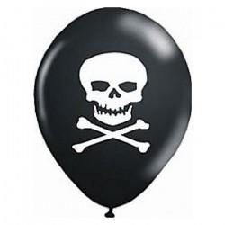 Balão Bexiga Preta Caveira Decoração Halloween