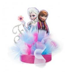 Enfeite Centro de Mesa para Festa Infantil Tema Frozen