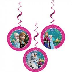 Enfeite para Pendurar Festa Infantil Tema Frozen 3un
