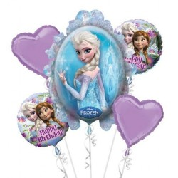 Kit de Balões Metalizados Frozen Festa Infantil Tema Frozen 5un