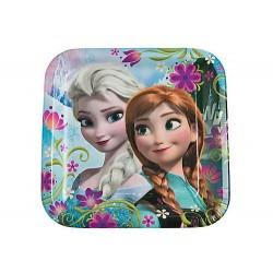 Pratinho de Bolo Quadrado Frozen Festa Infantil Tema Frozen 10un