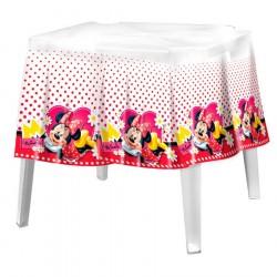 Toalha de Mesa Plástica Quadrada Minnie Disney Festa Infantil