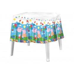 Toalha de Mesa Plástica Quadrada Peppa Pig Festa Infantil