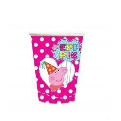 Copo Descartável Peppa Pig Rosa Festa Infantil