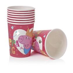 Copo Descartável de Papel Peppa Pig Pink Festa Infantil