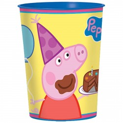 Copo Descartável Peppa Pig Amarelo e Azul Festa Infantil