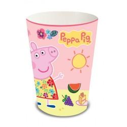 Copo Descartável de Papel Peppa Pig Festa Infantil
