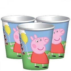 Copo Descartável de Papel Peppa Pig Azul Festa Infantil