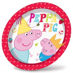 Pratinho Descartável Peppa Pig para Festa Infantil