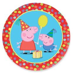 Pratinho Descartável Peppa Pig Colorido para Festa Infantil