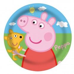 Pratinho Plástico Descartável Peppa Pig Festa Infantil