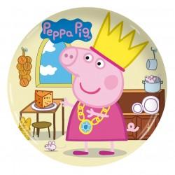 Prato de Bolo Descartável Peppa Pig Festinha Infantil