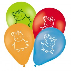 Bexiga Balão Coloridas Peppa Pig Látex Festa Infantil