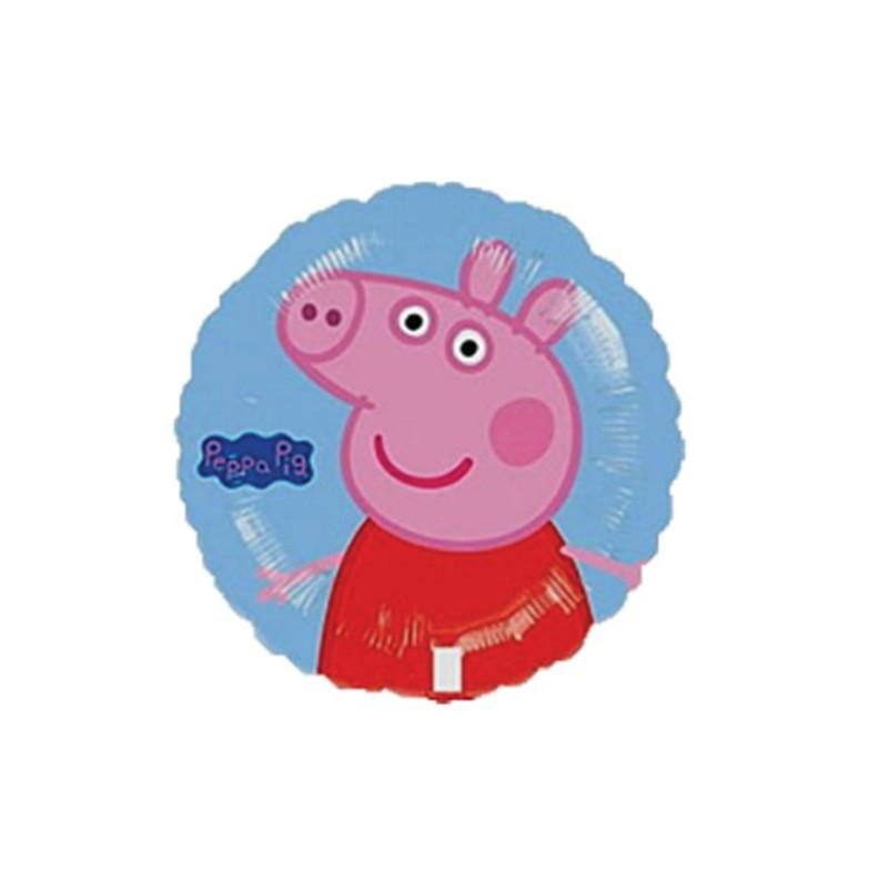 Bexiga Balão Rosa e Azul Peppa Pig Metalizado Festa Infantil