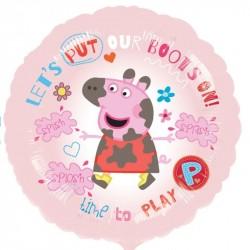 Balão Rosa Peppa Pig Metalizado Festa Infantil