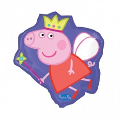 Balão Metalizado Peppa Pig Roxo Festa Infantil