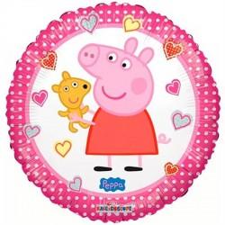 Balão Metalizado Peppa Pig Redondo Rosa Festa Infantil