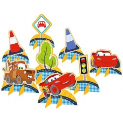 Kit Enfeites Decoração de Mesa Disney Cars Festa Infantil
