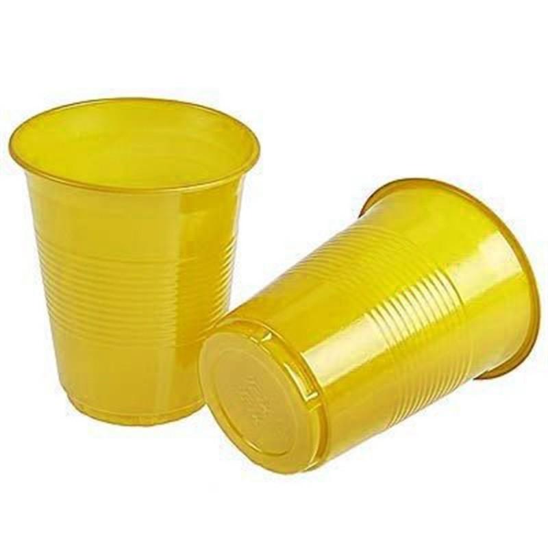 Copo Plástico Descartável Amarelo Festa Infantil 24un