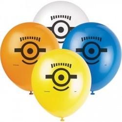 Bexiga Balão Minions para festa Infantil 24un