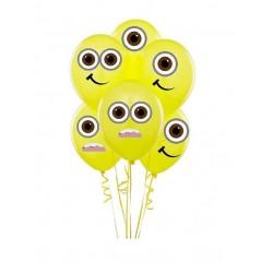 Bexiga Balão Minions Amarelo para festa Infantil 24un