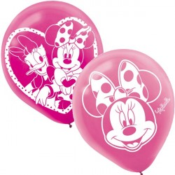 Balão Rosa Minnie Baby Festa Infantil 24un