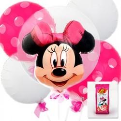 Kit de Balões Luxo Minnie Rosa Decoração Festa Infantil