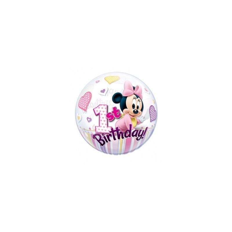 Balão Metalizado Minnie Rosa Decoração Festa Infantil