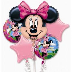 Kit Balões Metalizados Minnie Rosa Decoração Festa Infantil