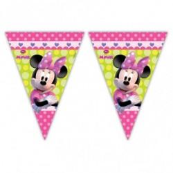 Bandeirinha Minnie Rosa Baby Decoração Festa Infantil 50un